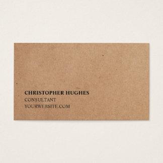 Consultor elegante simple minimalista del papel de tarjeta de negocios