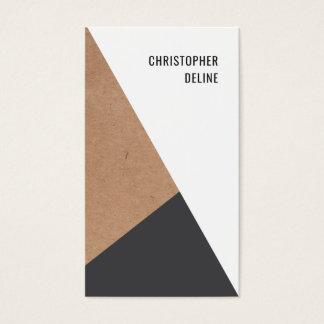 Consultor geométrico moderno del blanco gris de tarjeta de negocios