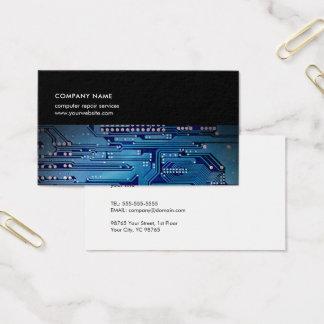 Consultor informático azul marino moderno de la tarjeta de visita