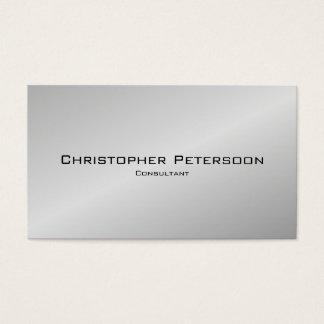 Consultor negro de plata clásico elegante simple tarjeta de visita
