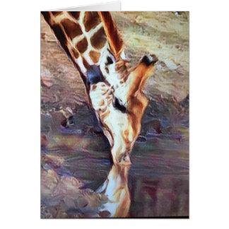 Consumición de la jirafa tarjeta de felicitación