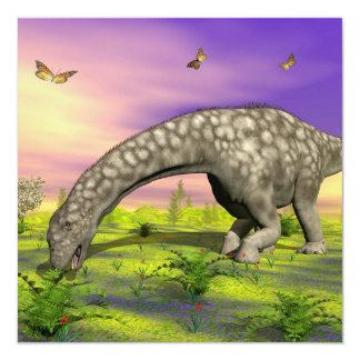 Consumición del dinosaurio del Argentinosaurus - Invitación 13,3 Cm X 13,3cm