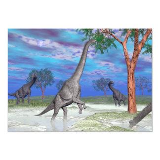 Consumición del dinosaurio del Brachiosaurus - 3D Invitación 12,7 X 17,8 Cm