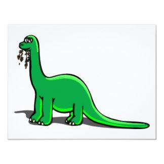 Consumición del dinosaurio del dibujo animado anuncio