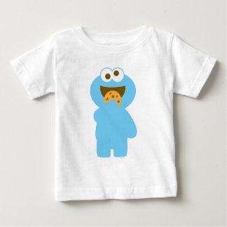 Consumición del monstruo de la galleta del bebé camiseta de bebé