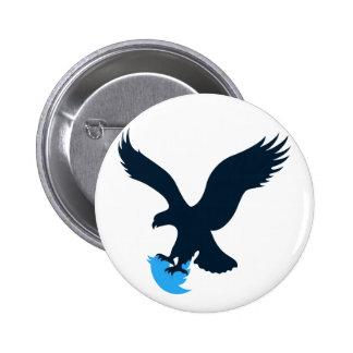 Consumición Eagle del gorjeo Chapa Redonda 5 Cm