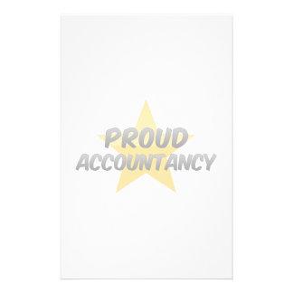 Contabilidad orgullosa papelería personalizada