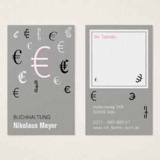 Contabilidad tarjetas de presentación con pink