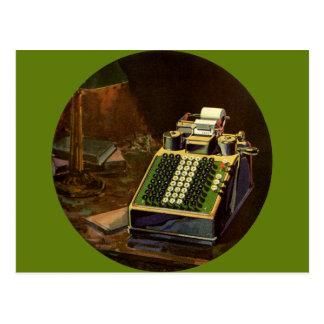Contable del negocio del vintage, máquina contable postal