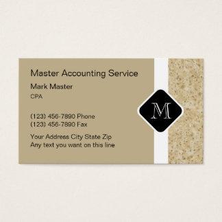Contable moderno Businesscards Tarjeta De Negocios