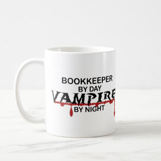 Contable por día, vampiro por noche taza de café
