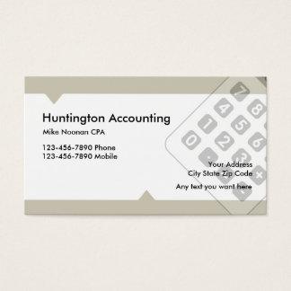 Contable profesional tarjeta de negocios
