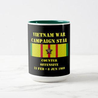 Contador - campaña ofensiva de Tet 1969 Tazas De Café