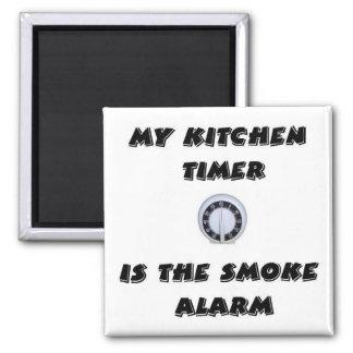 Contador de tiempo de la cocina/imán de la alarma  imán cuadrado