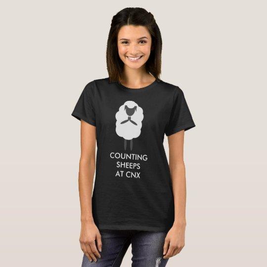Contando las ovejas @ CNX para las mujeres Camiseta