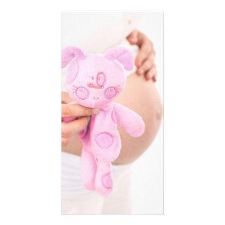 Contar con a la niña --Tarjeta de nota embarazada  Plantilla Para Tarjeta De Foto