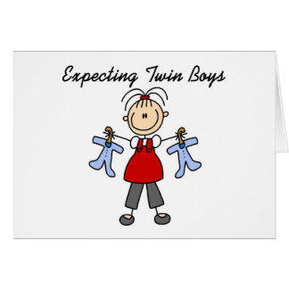Contar con a muchachos gemelos tarjeta de felicitación