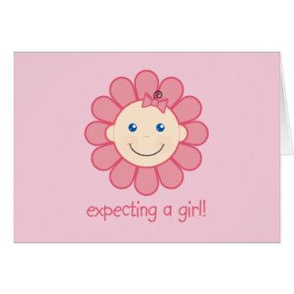 Contar con a un chica tarjeta de felicitación