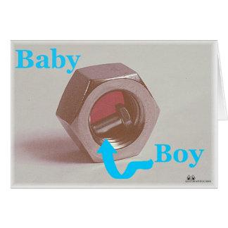 Contar con a un muchacho de bebé tarjeta de felicitación
