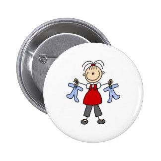 Contar con la figura botón del palillo del bebé pin
