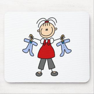 Contar con la figura Mousepad del palillo del bebé Tapete De Raton
