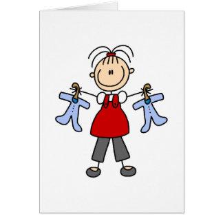 Contar con la figura tarjeta del palillo del bebé