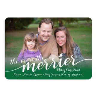 Contar con la tarjeta de Navidad con las fotos Invitación 12,7 X 17,8 Cm
