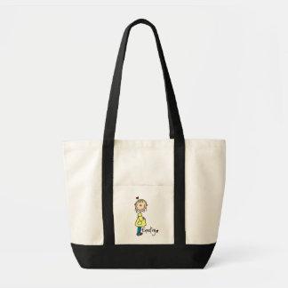 Contar con las camisetas y los regalos del bebé bolsa tela impulso