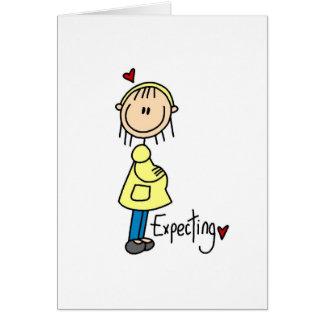 Contar con las camisetas y los regalos del bebé tarjeta de felicitación