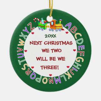 Contar con nuestro 1r Bebé-Navidad Adorno Navideño Redondo De Cerámica