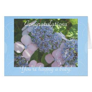 Contar con nueva enhorabuena del bebé felicitación