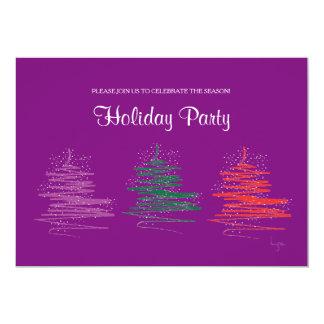 Contemporáneo, papel púrpura 5x7 de la celebración invitación 12,7 x 17,8 cm