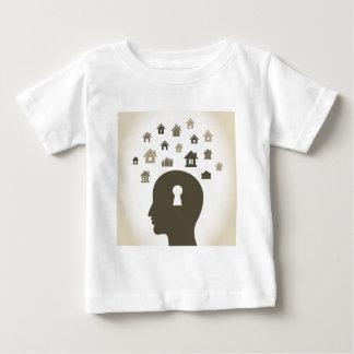 Contenga una cabeza camiseta de bebé
