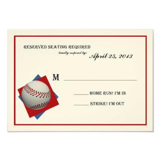 Contestación de Mitzvah de la barra del béisbol en Invitación 8,9 X 12,7 Cm
