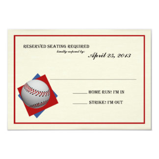 Contestación de Mitzvah de la barra del béisbol Invitación 8,9 X 12,7 Cm