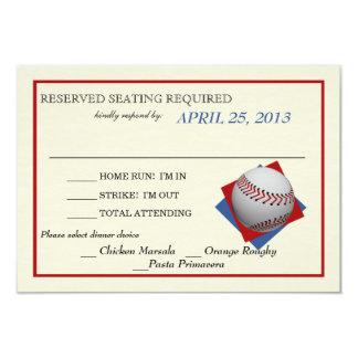 Contestación del boda del béisbol del vintage invitación 8,9 x 12,7 cm