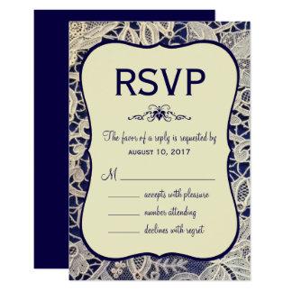 Contestación formal de la respuesta del boda de invitación 8,9 x 12,7 cm