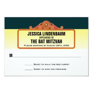 Contestación RSVP de Mitzvah del palo de la barra Invitación 8,9 X 12,7 Cm