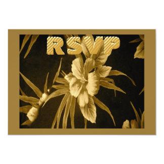 Contestación tropical hawaiana de oro de la comunicados personalizados