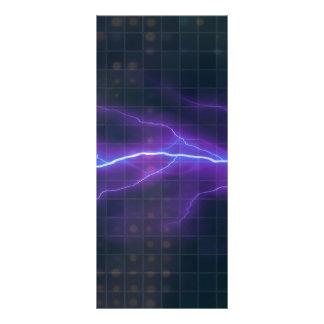Contexto púrpura de la electricidad del relámpago diseño de tarjeta publicitaria