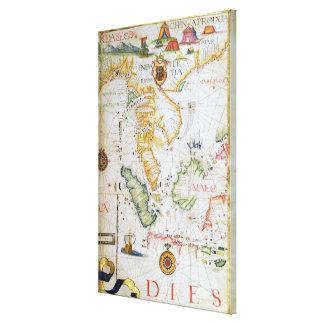 Continente Asia sudoriental, detalle del atlas del Impresión En Lienzo