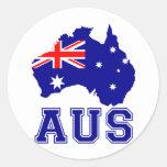 Continente de Australia Pegatina Redonda