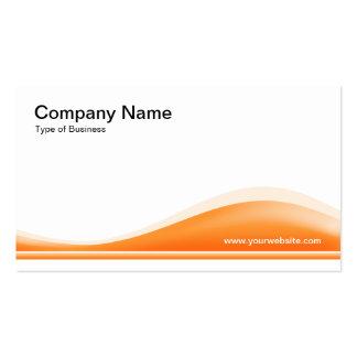 Contorno de la onda - anaranjado claro plantillas de tarjeta de negocio