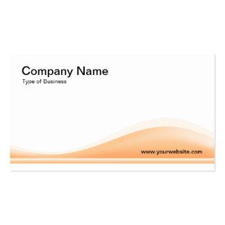 Contorno de la onda - arena plantilla de tarjeta de negocio