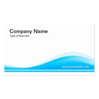 Contorno de la onda - azul de cielo tarjetas de negocios