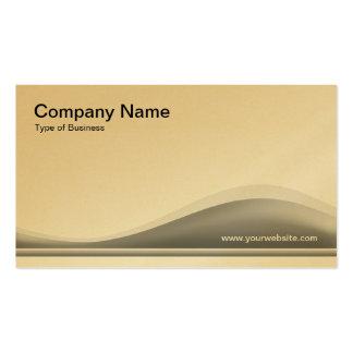 Contorno de la onda - gris 40pc (oro) tarjetas de visita