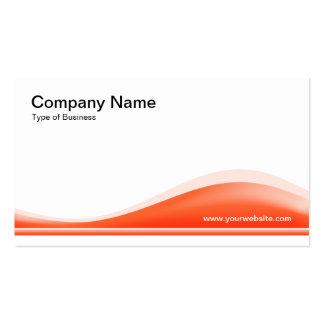 Contorno de la onda - naranja del otoño tarjeta de negocio