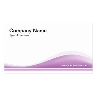 Contorno de la onda - púrpura pálida tarjetas de visita