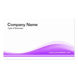 Contorno de la onda - purpúreo claro tarjetas de visita