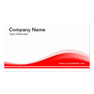 Contorno de la onda - rojo tarjetas de visita
